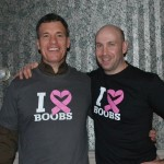 Goumba Johnny & Vince August in Heart Boobs T-Shirts